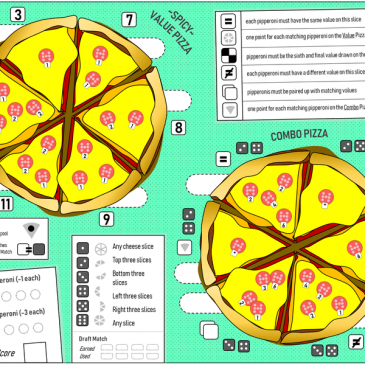 Print and Play: Pipperoni Pizzas
