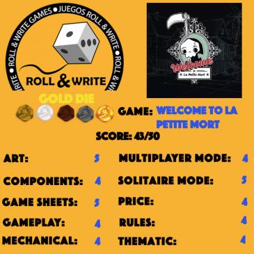Sellos Juegos Roll & Write: Welcome to La Petite Mort