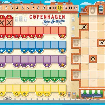 Hojas de Juego: Copenhagen Roll & Write Variante