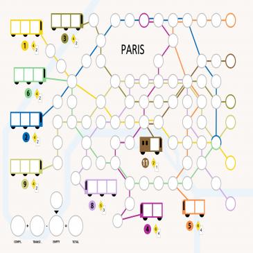 Hojas de Juego: Metro X Paris